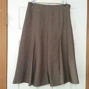 Tweed Office Wear Fit and Flare Skirt   Dress Barn